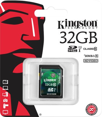 Kingston Digital 32 GB SDHC Class 10 Flash Card