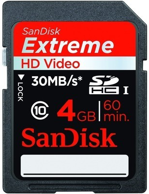SanDisk SDHC 4 GB Class 10