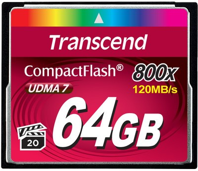Transcend Compact Flash 64 GB 800x Premium