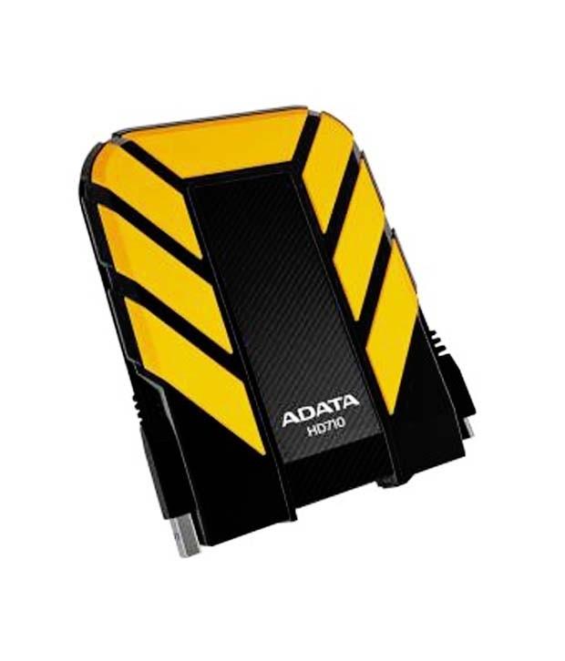ADATA DashDrive HD710 1 TB External Hard Disk (Black-Yellow)