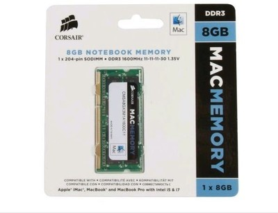 Corsair Apple Mac Series DDR3 8 GB Laptop (CMSA8GX3M1A1600C11)