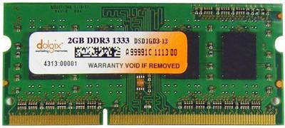 Dolgix Unbuffered DDR3 2 GB Laptop (DLR2GD3-14)