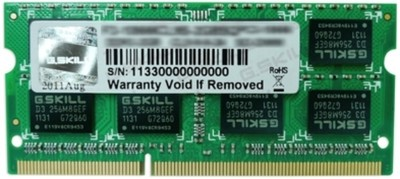 G.Skill SQ DDR3 4 GB (1 x 4 GB) Laptop DRAM (F3-12800CL9S-4GBSQ)