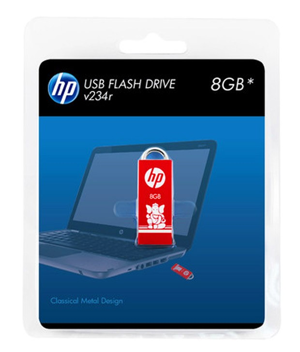 HP V234 8 GB PEN DRIVE (RED)