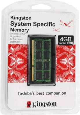 Kingston DDR3 4 GB (1 x 4 GB) Toshiba Laptop RAM (KTT-S3B/4G)