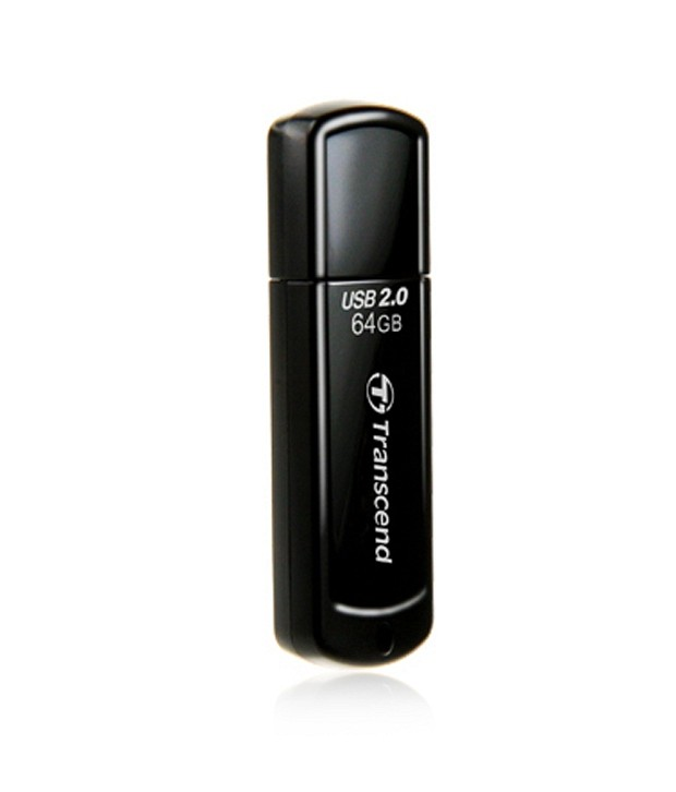 Transcend JetFlash 350 64 GB Pen Drives Black