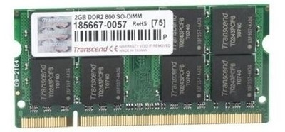 Transcend DDR2-800/PC2-6400 DDR2 2 GB Laptop DRAM (JM800QSU-2G)