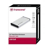 Transcend External Hard Disks Casing Silver
