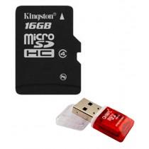 Kingston 16GB Micro SD Card (Class 4) + Free Micro SD Card Reader