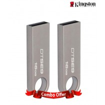 KINGSTON DT SE9 16GB PEN DRIVE (STEEL BODY) COMBO OF 2