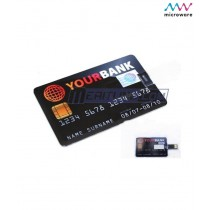 Microware 16GB Credit Card Shape Designer Pen Drive