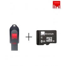 Strontium Pollex Series USB Flash Drive (16GB)+Strontium 8GB MicroSD Memory Card (Class 4)